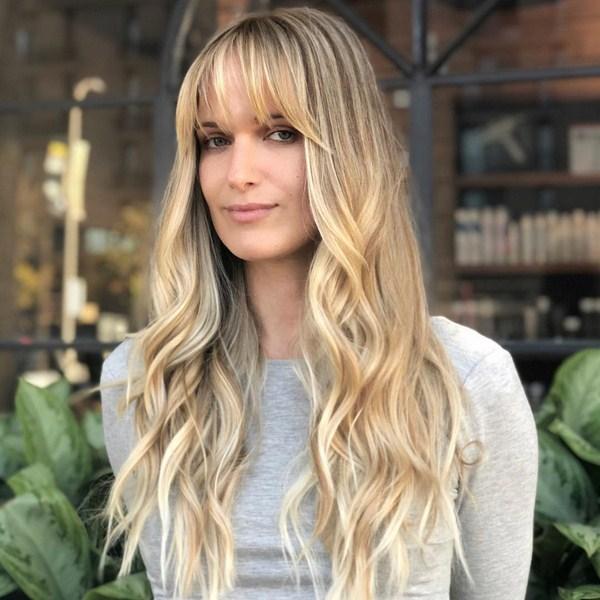 blonde woman long hairstyles