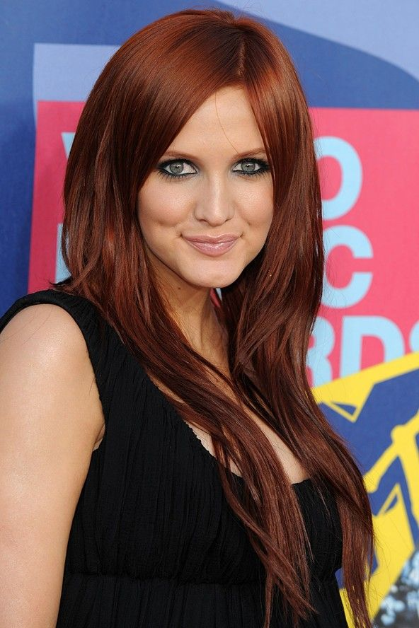 deep red hairstyles for long hair