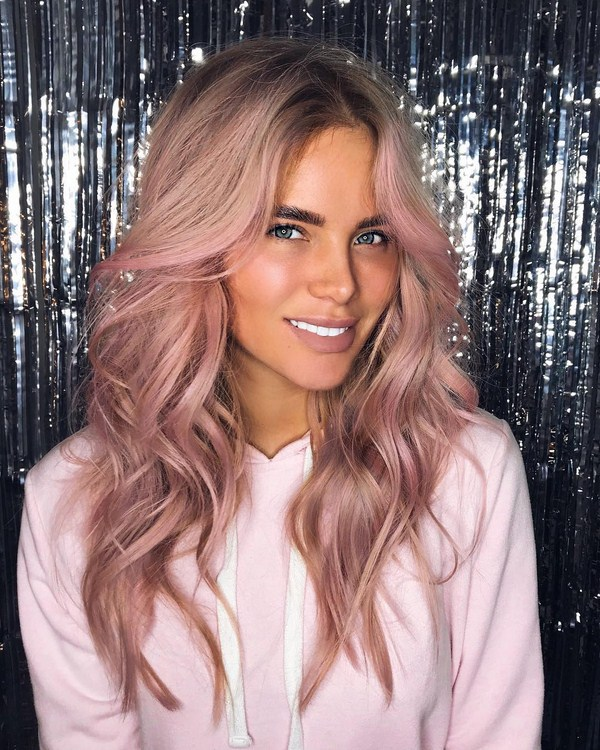 pinky and blonde hairstyles for long hair