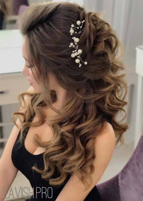 Long Curly Hairstyles for Wedding