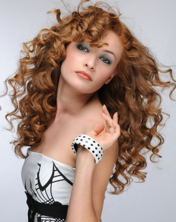 Long and Red Hairstyles Curly İdeas