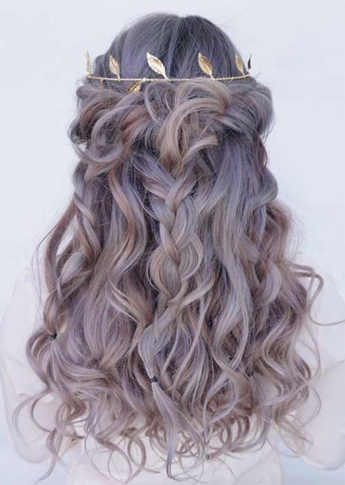 Tressed And Curly Long Hairstyles
