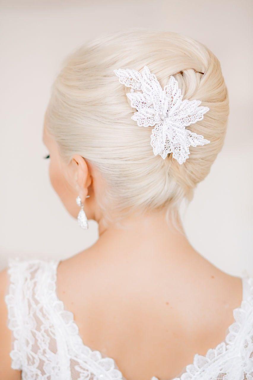 blonde and bun bridal hairstyles