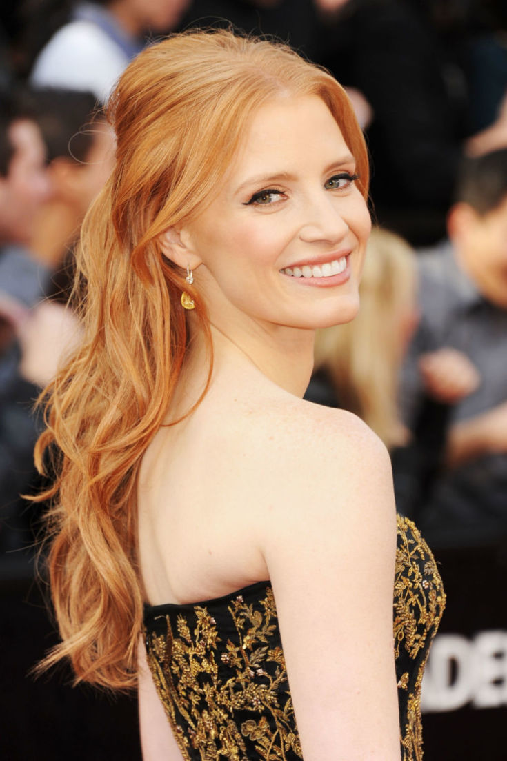 red Hairstyles for Long Hair