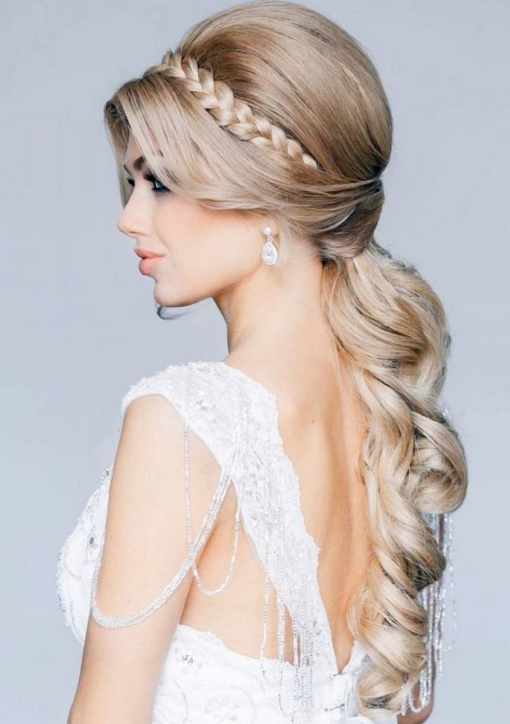 tressed hair for bridal hairstyles