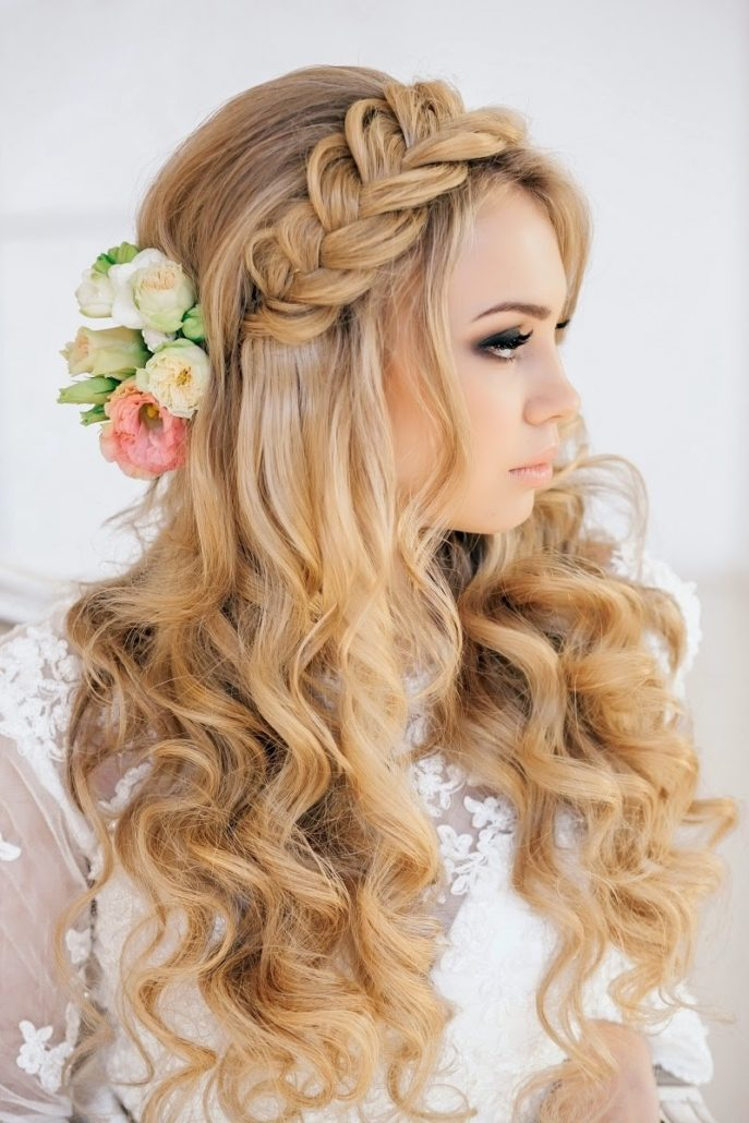 tressed hairstyles for bridal
