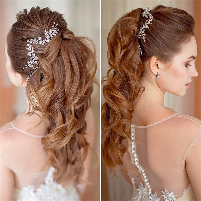 Braided Ponytail Wedding Hairstyles for 2021