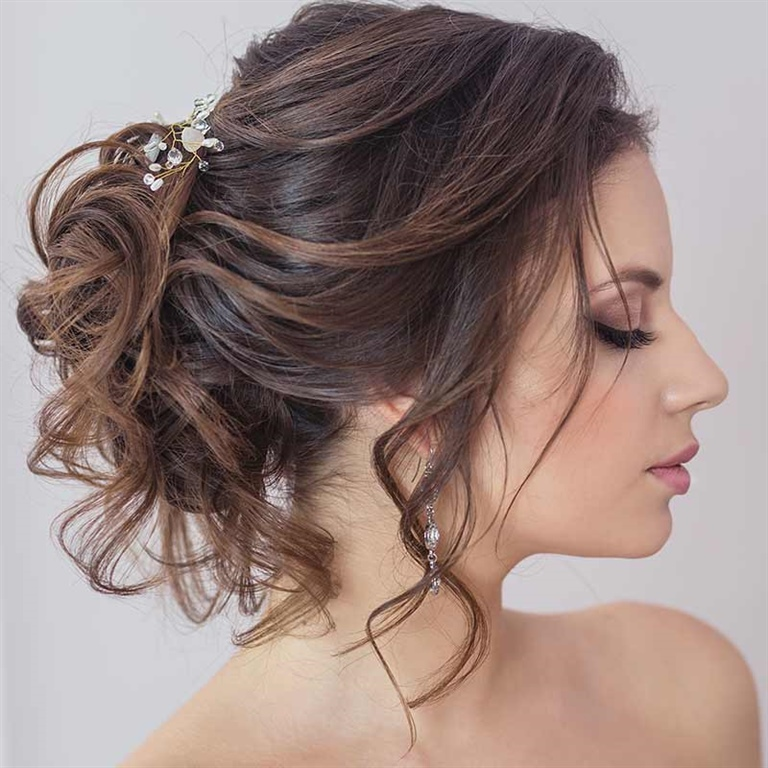 Wedding Hairstyles 2021 for Messy Hair
