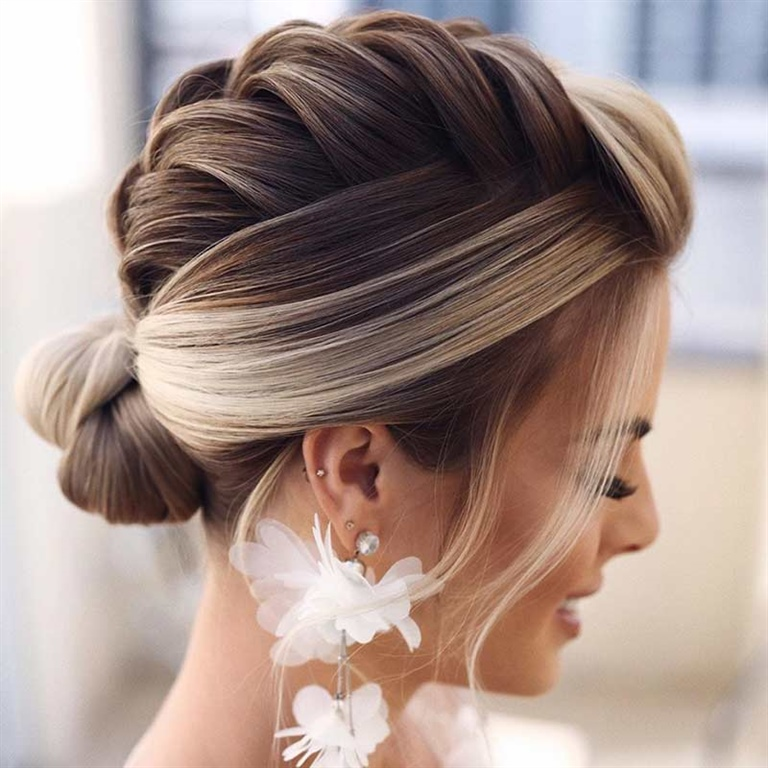 Wedding Hairstyles with Braided Low Bun