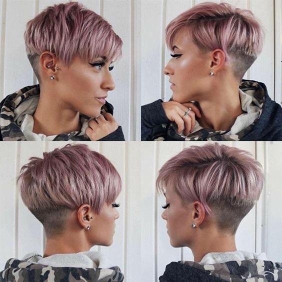 Short Hair Trends Undercut Pink